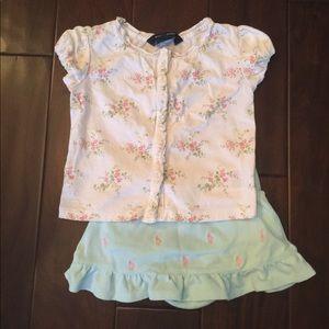 Ralph Lauren skirt and shirt outfit! 💐